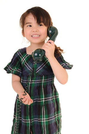 beautiful young girl talking phone