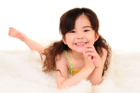 happy time for little girl  Stock Photo - 13509739