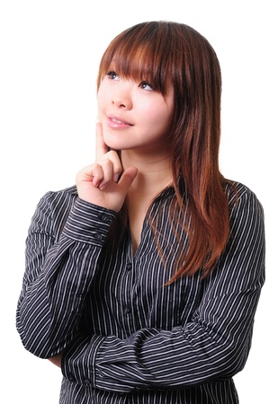 Young business woman thinking Stock Photo - 13603890
