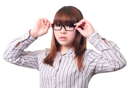 Beautiful businesswoman wearing eyeglasses  photo