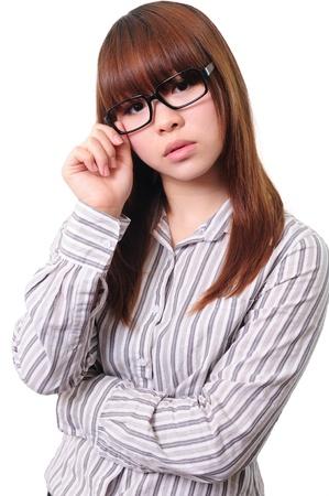 Beautiful businesswoman wearing eyeglasses