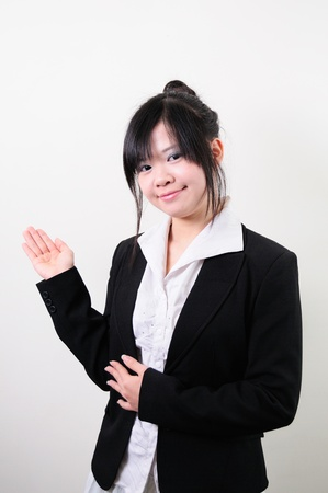 Happy successful business woman Stock Photo - 13653842