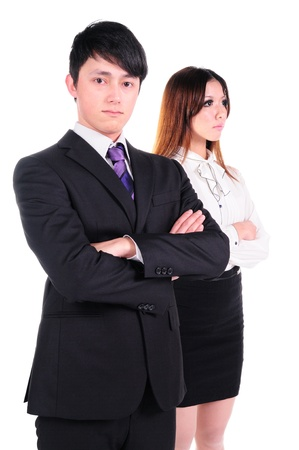 Young business woman and business man Stock Photo - 13684436