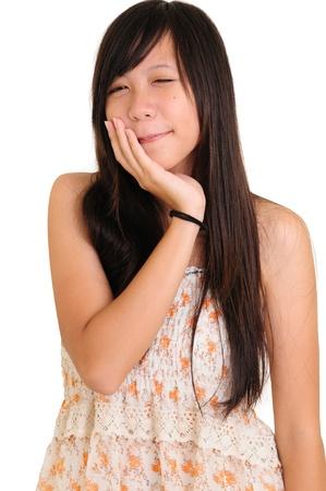 Beautiful asian young woman studio series