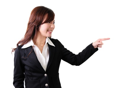 Young business woman shouting  photo