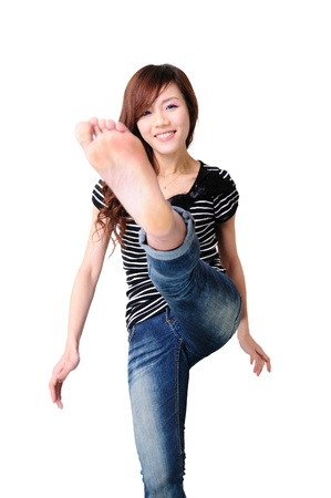 young cute woman  photo