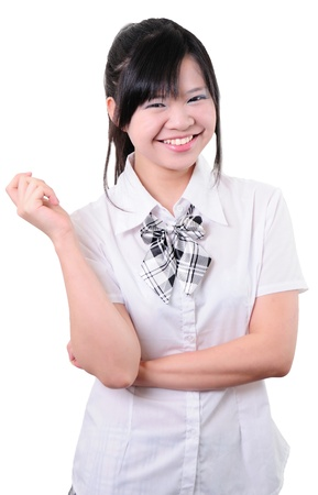Portrait of High school girl in school uniform  photo