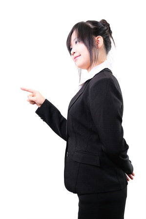 picture of attractive businesswoman pointing her finger  Stock Photo - 13820222
