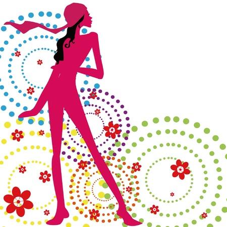 beauty woman  Illustration