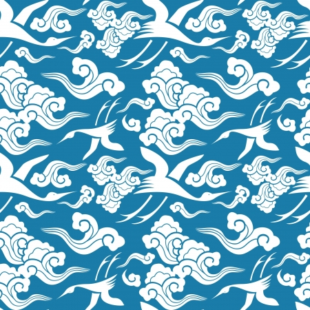 kimono: patrones tradicionales japoneses sin costura con temas geom�tricos y naturaleza Vectores