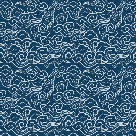 kimono: los patrones tradicionales japoneses sin costura, con temas geom�tricos y la naturaleza Vectores