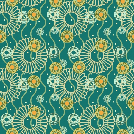 seamless pattern with hand drawn flowers Stock Vector - 14257717