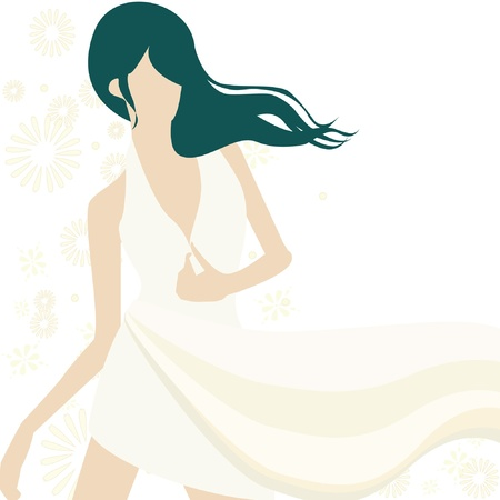 Background with beautiful girl  Stock Vector - 14257674