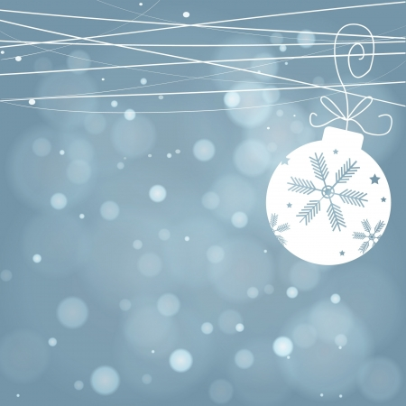 Blue Christmas background with white snowflakes Illustration