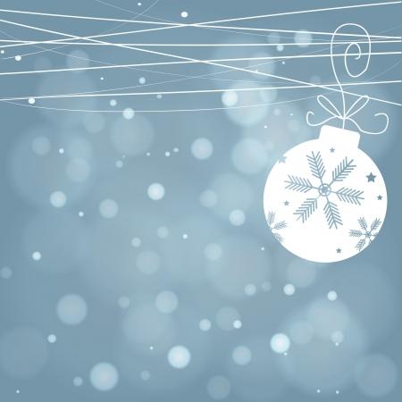 snow flakes: Blue Christmas background with white snowflakes Illustration