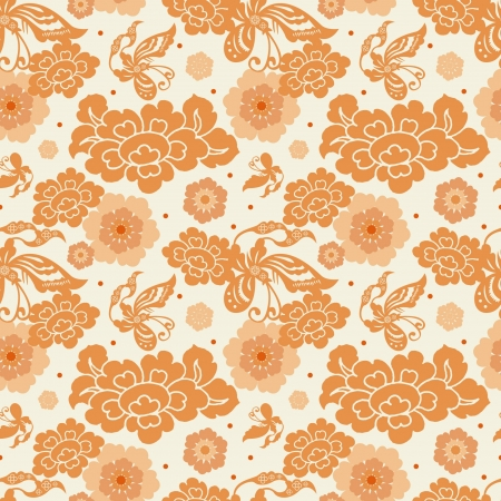 patterns japan: Chinese Pattern Background  Illustration