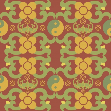 tai chi: Chinese Pattern Background