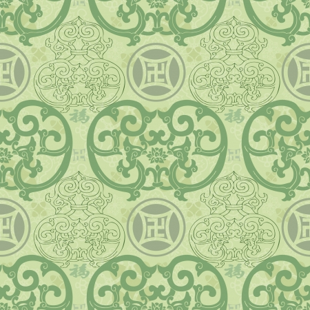 Chinese Pattern Background Stock Vector - 14257737