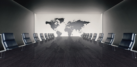 Conference and meeting room 3D Rendering Stock Photo