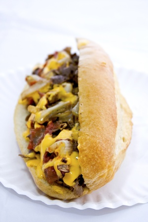 Steak Sandwich Reklamní fotografie