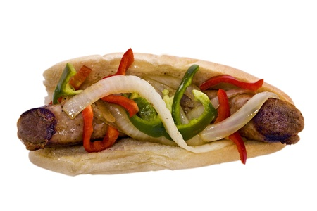 peppers: Sausage Sandwich