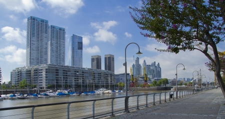 Residential and Office buildings of Puerto Madero in Buenos Aires  Stock Photo