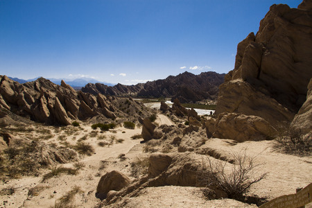 geological formation: geological formation through centuries of wind erosion was constructed