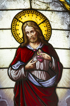 vitreaux of the sacred heart of jesus in Catholic Church