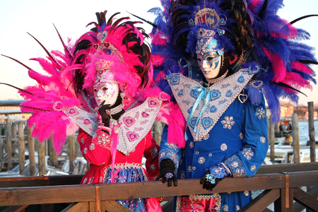 Costumes and mask in Venice Carnival. Deceit, mystery, fun and secret behind the masks of Venice. Every year in late February hundreds of people choose the mystery behind the masks.