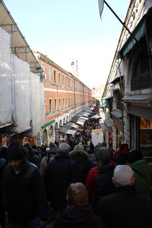 rialto: Rialto Bridge in Venice during the carnival