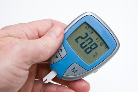 metro de medir: Arterial alta lectura de glucosa Foto de archivo