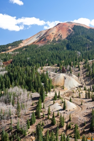 tailings: Mining Buildings and Tailings Stock Photo