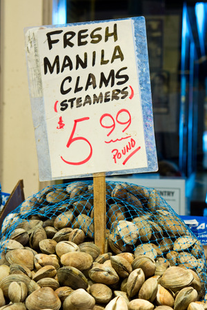 Manila Clams at Market photo