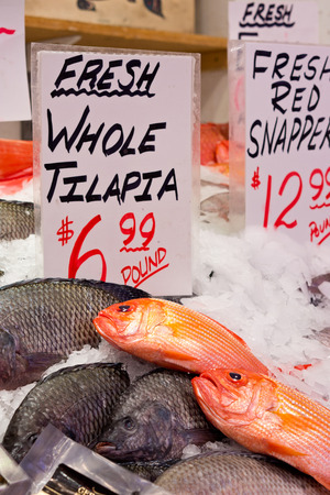 pike place market: Fish at Pike Place Market in Seattle