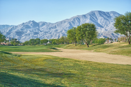 golf of california: Sand Trap and Fairway  Stock Photo