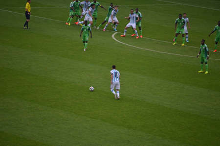 messi: Messi free kick versus Nigeria
