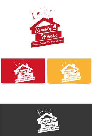 comedy house logo Illustration