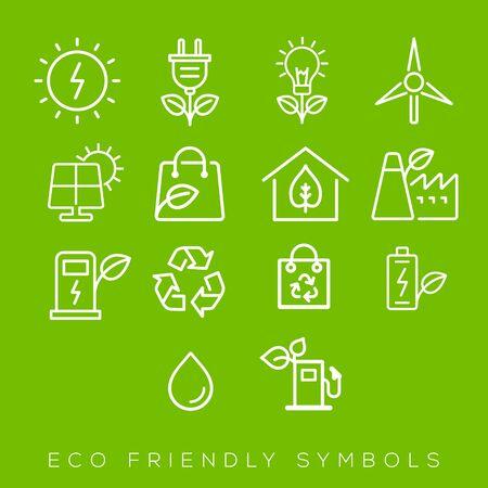 Green icon for eco-friendly design