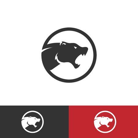 Cougar vector design minimal design logo Illusztráció