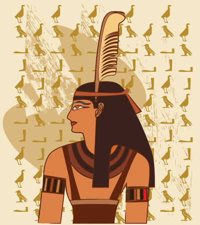hieroglyphics: Papyrus with elements of egyptian ancient history