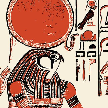 hieroglieven: Papyrus met elementen van de Egyptische Oudheid