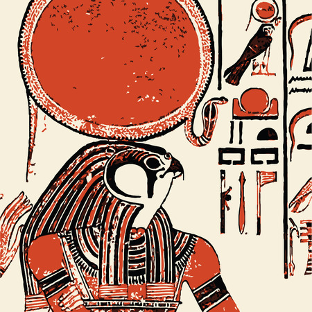egyptian: Papyrus with elements of egyptian ancient history