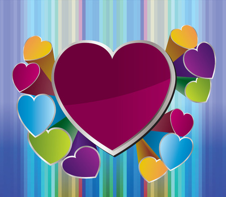 heart background for valentine day - Vector illustration