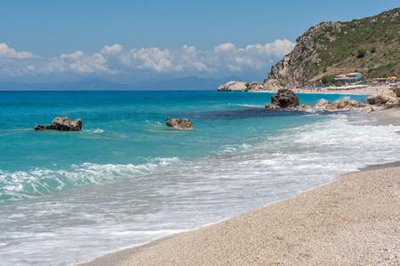 beach of Kathisma island of Lefkada in Greece