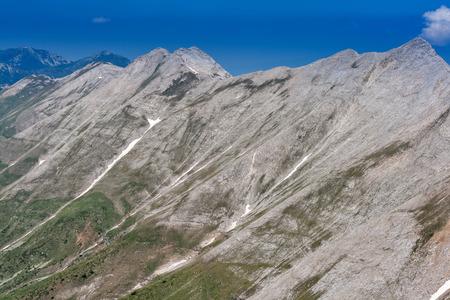 Panoramic view to Banski Suhodol Peak and Koncheto, Pirin Mountain, Bulgaria Stock Photo
