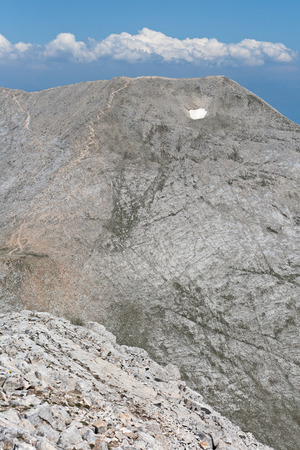 Amazing view to Kutelo Peak, Pirin Mountain, Bulgaria Stock Photo