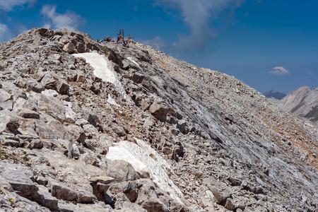 Panoramic view to Vihren Peak, Pirin Mountain, Bulgaria Stock Photo