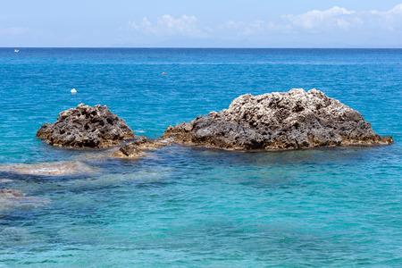 blue waters: Rocks in the Blue waters of Ionian sea, near Agios Nikitas village, lefkada
