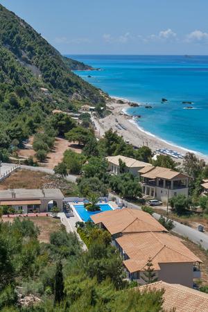 Kathisma beach at the island of Lefkada in Greece Stock Photo