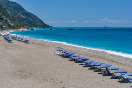 Kathisma beach at the island of Lefkada in Greece Stock Photo